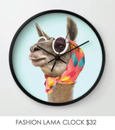 FASHION-LAMA-CLOCK